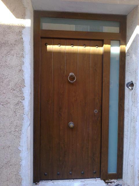 Carpinteria l pez y mota for Puertas de aluminio imitacion madera exterior precios
